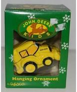 Enesco 865699 John Deere Kids Hanging Ornament Yellow Backhoe - $10.99