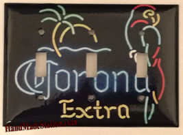 Corona Extra Beer neon Light Switch Outlet Wall Cover Plate Home decor image 4