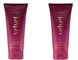 AVON Velvet Bath Set: Pearl Shower Gel & Body Lotion - NEW & Factory Sealed - $12.95