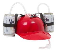 Beer and Soda Guzzler Helmet, Drinking Hat, 4-P... - $42.95