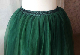 Dark Green Tulle Tutu Skirt Custom Ballerina Tulle Skirt 6-Layered Puffy Tutu image 3