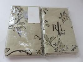 2 Ralph Lauren Plage D'Or floral Champagne king Shams $350 - $94.95