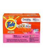 Tide PODS with Downy, Liquid Laundry Detergent Pacs, April Fresh, 104 cts - $65.55