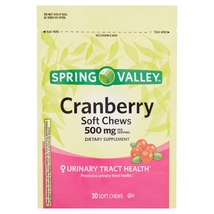 Spring Valley Cranberry Soft Chews, 500 mg, 30 ct - $18.81