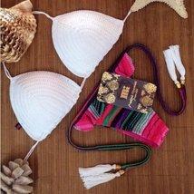 Summer Fringe Crochet Women Bikini  Set - $21.74