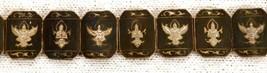 Thai Nakon Siam Silver Bracelet 939 Sterling Thailand Niello Goruda Vintage - $46.98