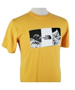 The North Face Graphic T-Shirt Small Crew S/S Yellow Cotton Mountains Ou... - $18.99