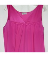 Vintage Vanity Fair Nightgown M Pink Knee Length Nylon Made in USA - $39.55
