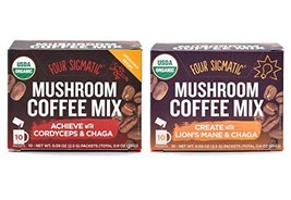 Four Sigmatic Mushroom Coffee Mix Pack of 2 - Lion's Mane and Chaga & Co... - $26.67