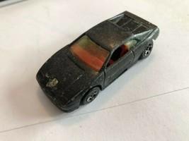 Hot Wheels Ferrari Testarossa 1990 Black Metal Flake With Red Interior M... - $3.86