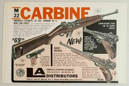 1967 Print Ad M-22 Carbine .22 Rifles & Pistols LA Distributors Brooklyn,NY - $9.98