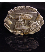 Vintage Coast Guard Buckle / Helicopter ship front /  military veteran g... - $75.00