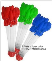 Water Balloon Easy Filling 2 PACKS Lot Color Party Pool Favors Red FREE ... - $16.95