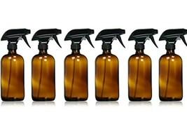 Sally's Organics Empty Amber Glass Spray Bottles 6-16 oz Refillable Cont... - $28.05