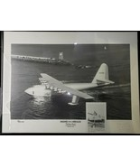 1974 Signed Arthur Kemp Forest Hughes H4 Hercules Spruce Goose Photo Art... - $420.74