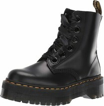 Womens Dr Martens Molly Buttero Leather Lace Ribbon Smooth Black Boots US 5-11 - $398.06