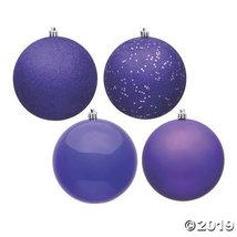 "Vickerman 2.75"" Purple 4-Finish Ball Christmas Ornament - 20/Box - $30.25"