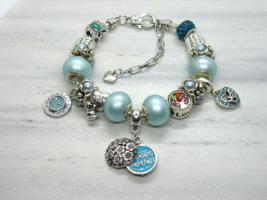 For Mom European Murano Beaded Bracelet. Gift bag included - $19.95
