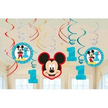 Mickey Mouse Fun to Be One Swirl Decoration Value Pack 1st Birthday Party - €6,25 EUR