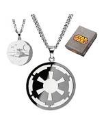 Star Wars Imperial Symbol and Death Star Etched Necklace [Jewelry] [Jan ... - $651,25 MXN