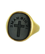 Antique Tiffany Co 22k Gold In His Name Cross Onyx Signet Seal Victorian... - $10,800.00