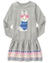 Gymboree 4 5 6 7 Bunny Sweater Dress Snowflake Fun Gray Fair Isle NWT Easter - $17.99