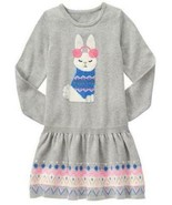 Gymboree 4 5 6 7 Bunny Sweater Dress Snowflake Fun Gray Fair Isle NWT Ea... - $17.99