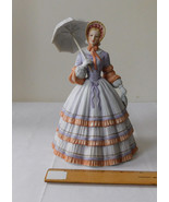 Lenox Porcelain Sculpture Figurine Woman Umbrella, Springtime Promenade,... - $17.99