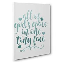 All of Gods Grace in One Tiny Face Motivational Quote Canvas Wall Art - $34.65