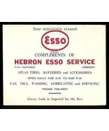 ESSO Service Gas Station 1960's Advertising Card Complimentary Windshiel... - $14.99