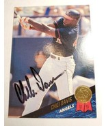 CHILI DAVIS Signed 1993 Leaf Baseball Card Autographed  - $19.95