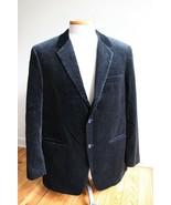 Alfani 44 Reg Black Velvet Pinstripe Dual Vent Two-Button Suit Jacket Bl... - $43.70