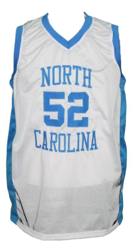 James worthy college basketball jersey white  1