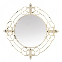 Antique White Fleur-de-lis Wall Mirror - $76.80