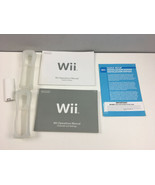 Wii Manual Accessories Lot 2 Skins Manuals Controller Battery Cover - $11.88