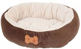 Aspen Pet Oval Cuddler Pet Bed, 20-Inch By 16-Inch, Chocolate Brown - $32.01