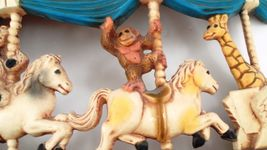 1979 Homco Universal Statuary Circus Animals Carousel Wall Hanging Brass Ring image 5