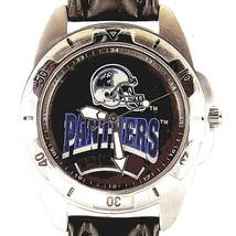 Carolina Panthers, NFL Fossil, New Unworn, Man's Vintage 1995 Leather Watch! $79 - $78.06