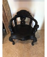 Antique Wood Dragon Chair W/ High Relief Carving. Victorian Dragons - $809.30