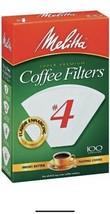 Melitta Super Premium #4 Cone Paper Coffee Filters White, 100 Count - Pa... - $20.29