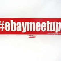 """eBay Meetup Meeting Room Sign 28"""" x 7"""" Original Pin 2"""" Red White TagSwag - $17.80"""