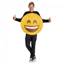 Disguise Smile Face Emoji Emoticon Goofy Adult Unisex Halloween Costume ... - $24.79