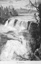 TRENTON FALLS in New York State - 1883 German Print - $21.60