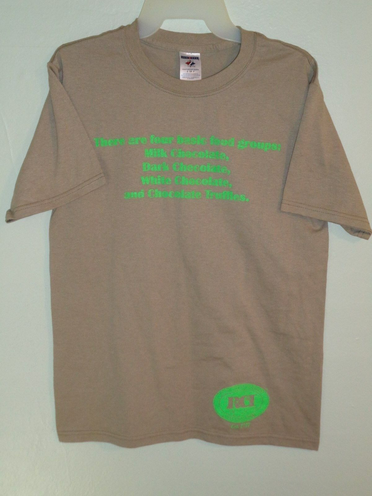 Primary image for Vintage Graphic T Shirt Childs S Retailers Confectioners 4 Basic Food Groups