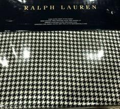 Ralph Lauren Screening Room Mattea 1pc King Extra Deep Fit Sheet NAVY/CREAM Nip - $94.04