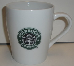 Starbucks Coffee Ceramic Mug 8 Oz 3.75'' - 2007 White Logo - $3.99