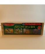 Melissa & Doug Dinosaur Puzzle Jigsaw in a Box 4 Wooden Puzzles 48 piece... - $17.95