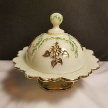 Northwood EAPG Custard Glass INTAGLIO Convered Domes Butter Very Fine Co... - $49.95