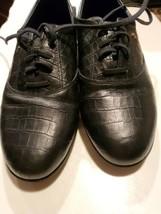 Easy Spirit Anti Gravity Motion Black Croc Leather Excellent preown 8.5 M freesp - $21.78