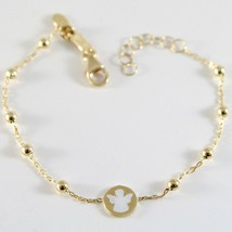 18K YELLOW GOLD BRACELET FOR KIDS WITH GUARDIAN ANGEL,  MADE IN ITALY  5.91 IN image 1